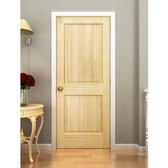 2 Panel Door, Solid Pine, Kimberly Bay® Interior Slab Colonial Square Top