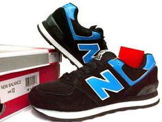#NB #NewBalance 574 Black/Blue