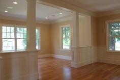 Half Wall and Columns. Opening up a space, yet still keeping them defined!