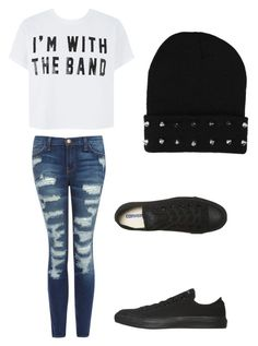 """""""Untitled #8"""" by xxlolasagexx ❤ liked on Polyvore featuring Current/Elliott and Converse"""