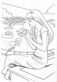 barbie princess coloring pages  Crafts for kids  Pinterest
