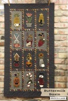 Image result for free primitive wool applique patterns
