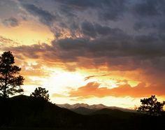 Summer Rocky Mountain sunset!
