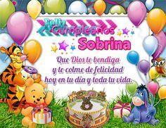 Felicitar a una Sobrina por su Cumpleaños con Mensajes Lindos | Tarjetas de Feliz Cumpleaños