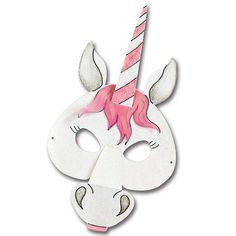 #Einhornkostüm #Faschingsmaske | Wie wäre es mit einem Einhorn-Kostüm dieses Jahr? Diese Maske ist ganz schnell nachgebastelt: http://www.trendmarkt24.de/kindermasken-pferd-6er-pack.html#p
