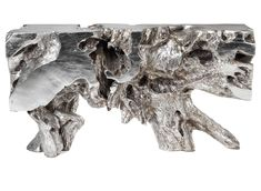 yes, this really is a console table!  amazing silver finished ROOT furniture {Z Gallerie}