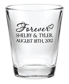 96 Personalized 1.5oz Wedding Favor Glass Shot Glasses New Romantic Designs Custom Wedding Favors on Etsy, $130.04