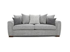 Cousins Dark 60437 Foot 4 Seater Sofas Meribel 4 seater (pillow back) - type A Fabric colour