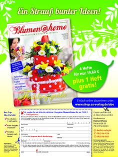 Abowerbung ohne Prämien!    Abo-Anzeige für die neue #Zeitschrift Blumen@home: #Werbemittel 1/1-Abo-Anzeige, Heftwerbung, Angebot: #Jahresabo, Response-Aktivierung über #Coupon und Deeplink  I © Montana Medien, Hamburg - Dezember 2013 I Bestellen Sie #Blumen@home unter: www.shop.oz-verlag.de/abo  #Direktmarketing, #Print, #Verlage, #CRM, #Dialogmarketing, #Abomarketing, #Aboanzeige, #OZ-Verlag, #Montana Medien BERATUNG + #AGENTUR