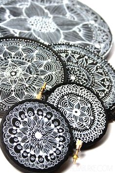 alisaburke: embroidery hoop doodles Could be a finished Mandala Lesson Idea