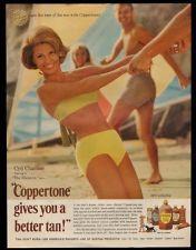 1966 Cyd Charisse bikini photo Coppertone suntan tanning lotion vintage print ad