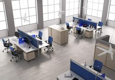 Workstation with partitions ONLINE3   Office workstation - MASCAGNI