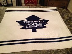 Ravelry: Toronto Maple Leafs Chart pattern by Twisted Bark Designs Leaf Knitting Pattern, Fair Isle Knitting Patterns, Knitting Charts, Crochet Blanket Patterns, Knit Patterns, Crochet Blankets, Toronto Maple Leafs, Learn To Crochet, Crochet Accessories