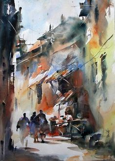 Cao Bei-an #watercolor jd