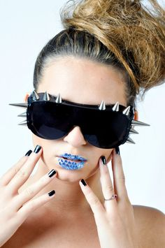915c04bee0 Crazy Spike Sunglasses inspiried by Lady Gaga Discount Sunglasses