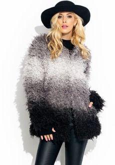 Take A Dip-Dye Faux Fur Coat