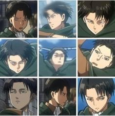 Levi - the most beautiful animated character ever. All of these look like me
