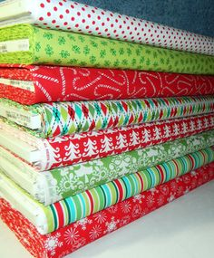 Michael Miller Fabrics  Holiday Fat Quarter by StitchinStash, $17.75