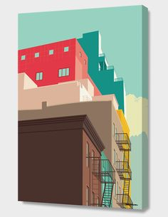"""""""Lower East Side"""", Numbered Edition Canvas Print by Remko Heemskerk - From $69.00 - Curioos"""