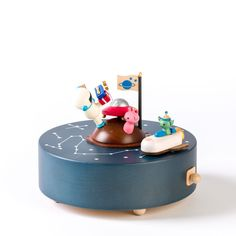 Birthday in Space Wooden Music Box