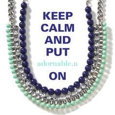 Keep Calm adornable.u accessories