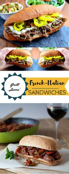 Grill Lovers' Amazing French-Italian Sandwiches Recipe #recipes #foodporn #foodie
