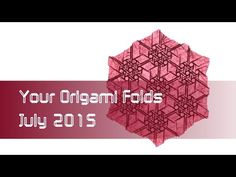 """Your Origami Folds July 2015: """"Celtic Circle"""" (Robin Scholz). Oooh,love tessellations."""