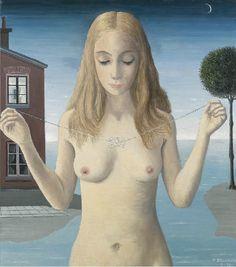 Le Collier by Paul Delvaux