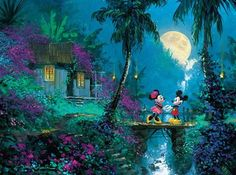 Disney Fine Art: Moonlight Proposal (1000 Piece Puzzle by Ceaco)