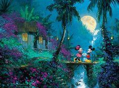 Disney Fine Art: Moonlight Proposal (1000 Piece Puzzle by Ceaco)