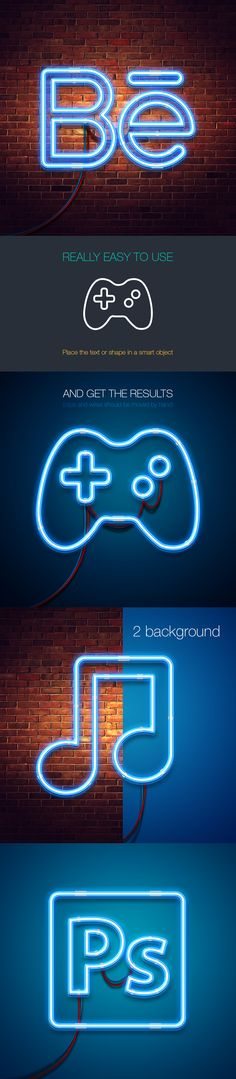 Free neon mock-up #Free #Mockup #Neon #Behance #design #psd #photoshop #glow