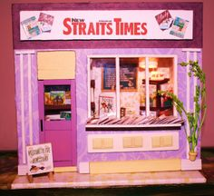 Newsagent Miniature Houses, Miniatures, Neon Signs, Minis