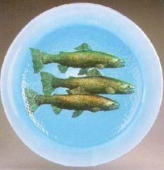 Three Salmon Fish Bowl – Fusion Art Glass Online Store