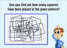 How many squares are there in the given picture? Things To Do When Bored, Fun Things, Tricky Questions, This Or That Questions, Geometry Questions, Hard Puzzles, Watch Youtube Videos, Riddles, Games To Play