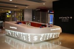 Corian® front desk Idea for hospital, healthcare.