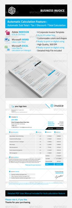 Clean Customisable Invoice Template - ms word proposal template