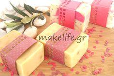 συνταγή για χειροποίητα σαπούνια Handmade Cosmetics, Handmade Soaps, Crafts To Do, Diy Crafts, My Bubbles, Bath Soap, Soap Making, Bath Bombs, Osho