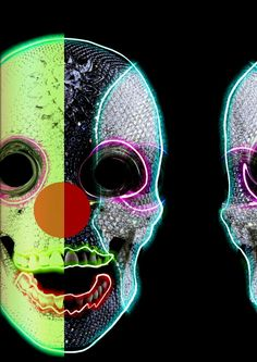 Hot art by Mike Gamero - Damien Hirst - Skull