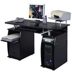 Computer PC Desk Work Station Office Home Monitor Printer Shelf Furniture #HM FREE SHIPPING