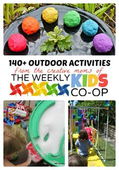 Looking for some ways to have fun with the kids outside? Here are over 140 Outdoor Activities for Kids from the creative moms of The Weekly Kids Co-Op! Outdoor Fun For Kids, Summer Fun For Kids, Outdoor Activities For Kids, Summer Activities, Diy For Kids, Outdoor Games, Toddler Fun, Business For Kids, Projects For Kids