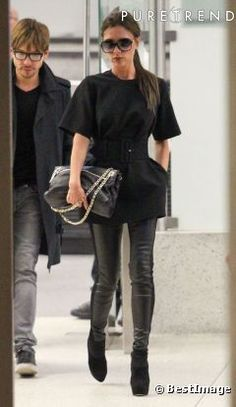 Victoria Beckham total black