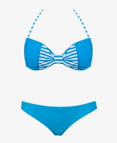 Striped Bow Bikini Top | FOREVER21 $10.80