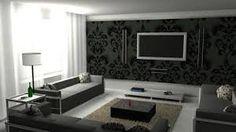 Картинки по запросу черно белый дизайн гостинной