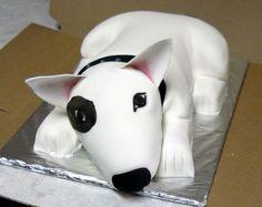 Bull terrier cake
