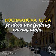 Ulica je dobila ime po učitelju tjelovježbe Franji Hochmanu 1928. godine.   Bio je vođa Hrvatskog sokola, urednik časopisa ''Gimnastika'' koji je počeo izlaziti 1890. godine.   #ZagrebFacts #Zagreb #ZG #Agram #HochmanovaUlica #UlicaFranjeHochmana #Hochmanova #FranjoHochman