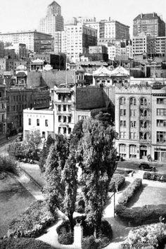 Portsmouth Square, San Francisco, Ca by Vintage San Francisco