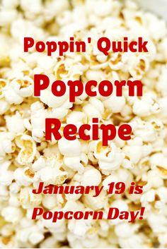 Quick Popcorn Recipe from Nebraska Extension