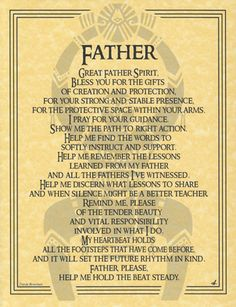 Great FATHER Spirit Prayer Parchment Page Book of Shadows Bos Spell Page Wiccan