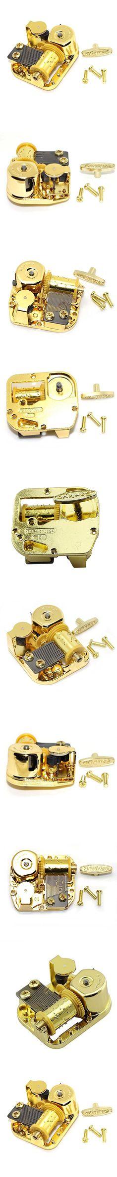 Gold Plated Windup Clockwork DIY Music Box Musical Mechanism Movement (Grandfather's Clock)
