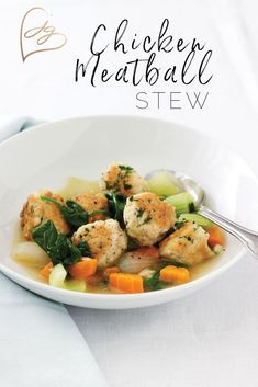 This was inspired by a recipe for Italian wedding soup in my book Quick & Kosher: Meals in Minutes.It's perfect for a holiday night meal! Kosher Meals, Kosher Recipes, Meat Recipes, Chicken Recipes, Vegetable Soup Healthy, Healthy Soup, Jewish Recipes, Italian Recipes, Meatball Stew